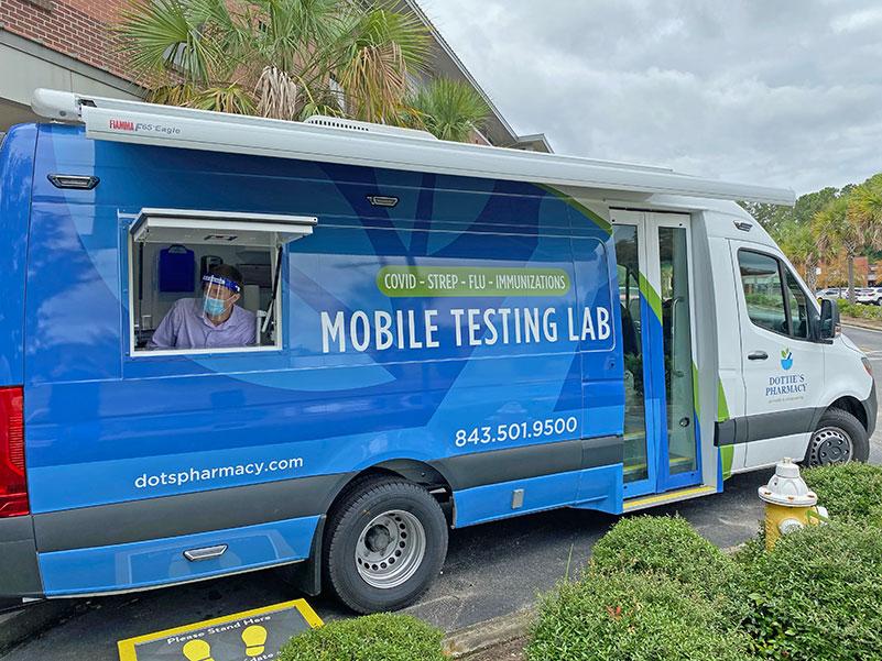 Photo of mobile testing van